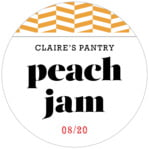 Apothecary Graphic Circle Label In Orange