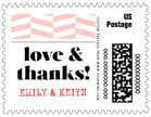 Apothecary Graphic Small Postage Stamp In Rose Quartz