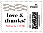 Apothecary Graphic Small Postage Stamp In Warm Grey