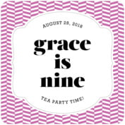 Apothecary Graphic Square Coaster In Radiant Orchid