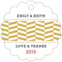 Apothecary Graphic scallop hang tags