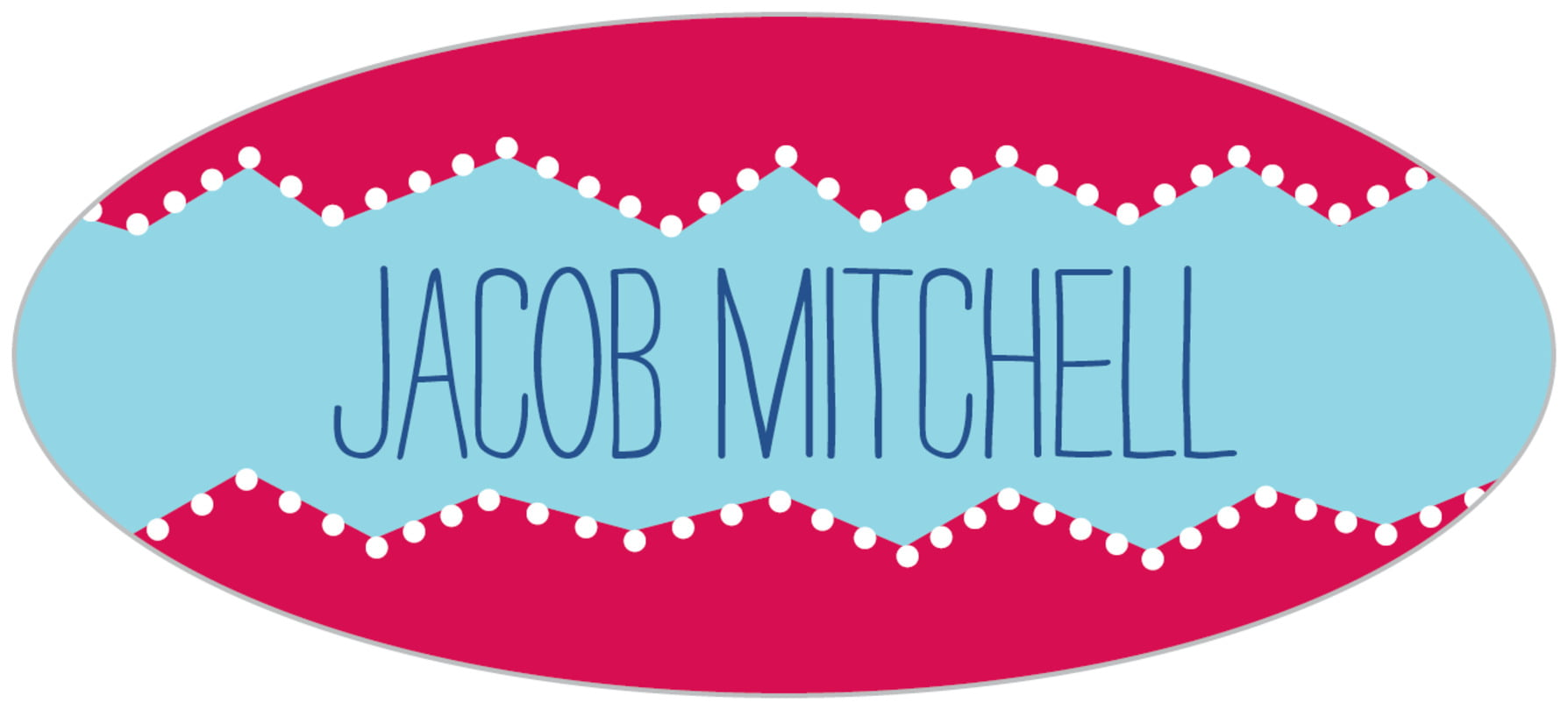custom oval labels - red - ancho (set of 30)