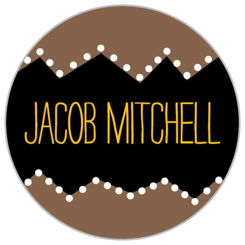 custom small circle labels - saddle brown - ancho (set of 70)