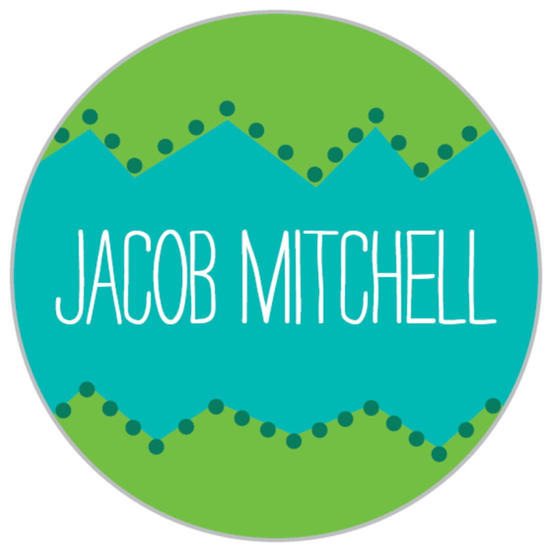 custom small circle labels - green - ancho (set of 70)