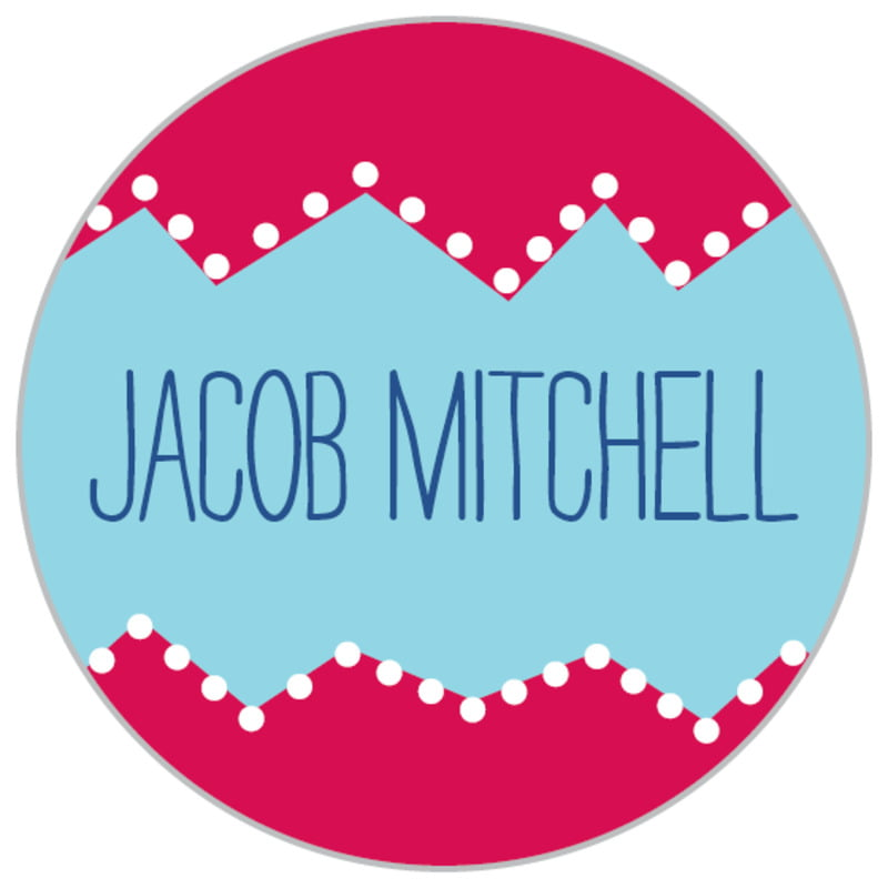 custom small circle labels - red - ancho (set of 70)