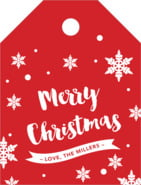 Charming Christmas Small Luggage Tag In Cherry Red