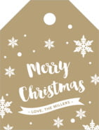 Charming Christmas small luggage tags
