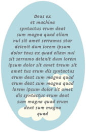 Airplane oval text labels