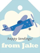 Airplane small luggage tags