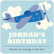 Airplane baby birthday coasters