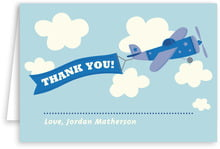 Airplane Folding Card In Blue