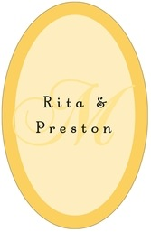 Astor tall oval labels