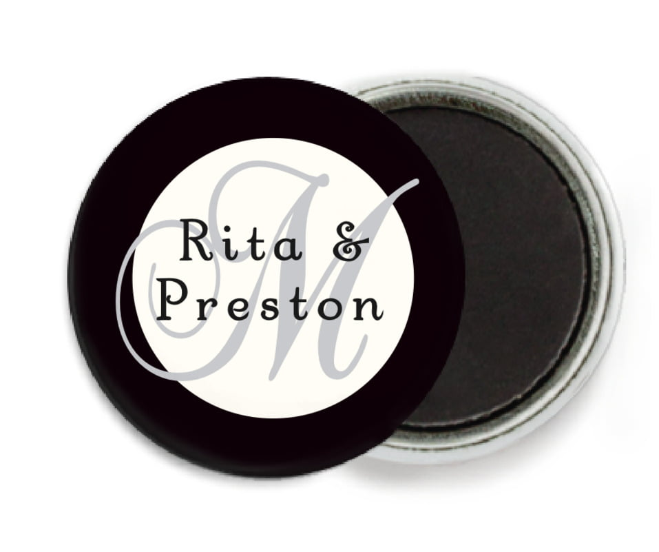 custom button magnets - tuxedo - astor (set of 6)