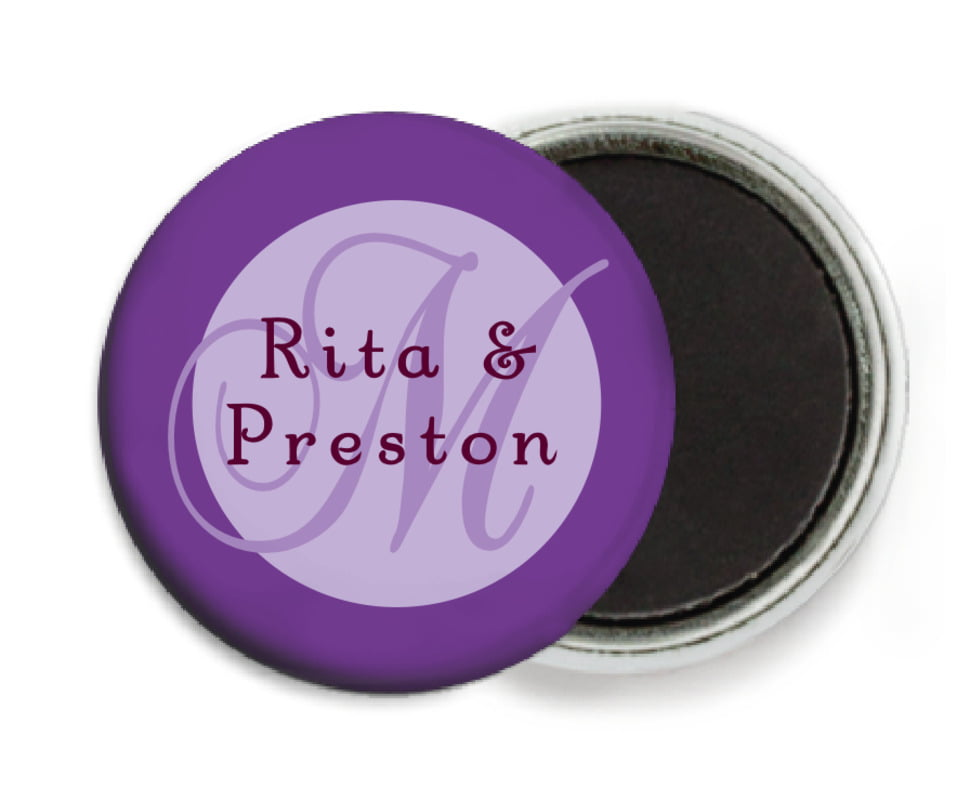 custom button magnets - lilac - astor (set of 6)