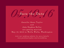 custom save-the-date cards - deep red - astor (set of 10)