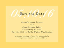 custom save-the-date cards - sunflower - astor (set of 10)