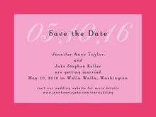 custom save-the-date cards - pale pink - astor (set of 10)