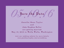 custom save-the-date cards - lilac - astor (set of 10)