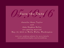 custom save-the-date cards - burgundy - astor (set of 10)