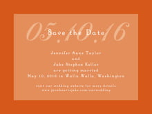 custom save-the-date cards - spice - astor (set of 10)