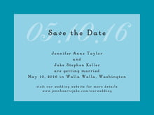 custom save-the-date cards - sky - astor (set of 10)