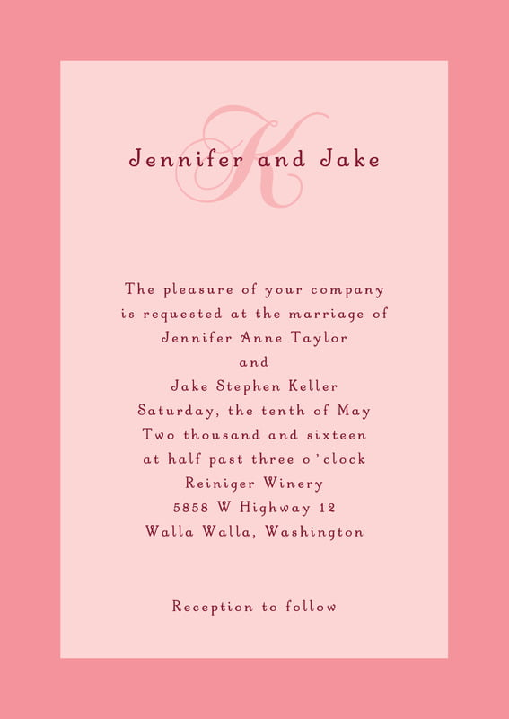 custom invitations - grapefruit - astor (set of 10)