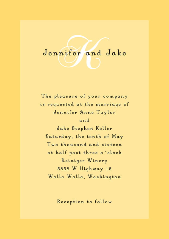 custom invitations - sunflower - astor (set of 10)