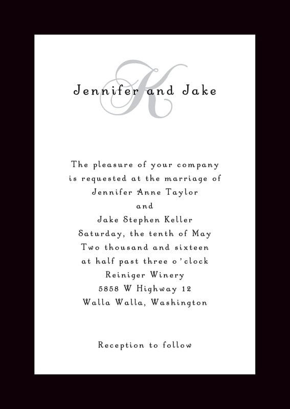 custom invitations - tuxedo - astor (set of 10)