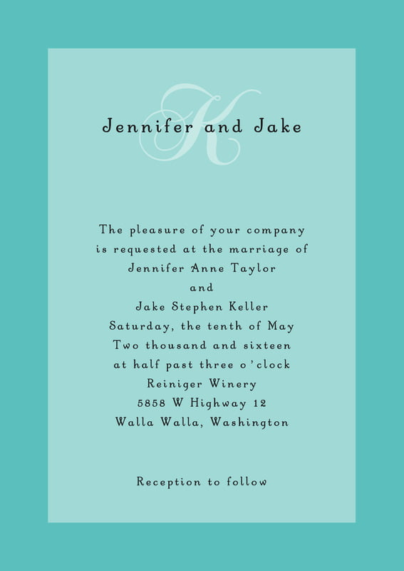 custom invitations - aruba - astor (set of 10)