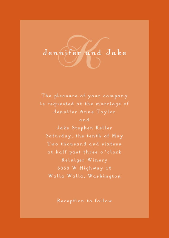 custom invitations - spice - astor (set of 10)
