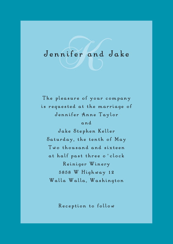 custom invitations - sky - astor (set of 10)