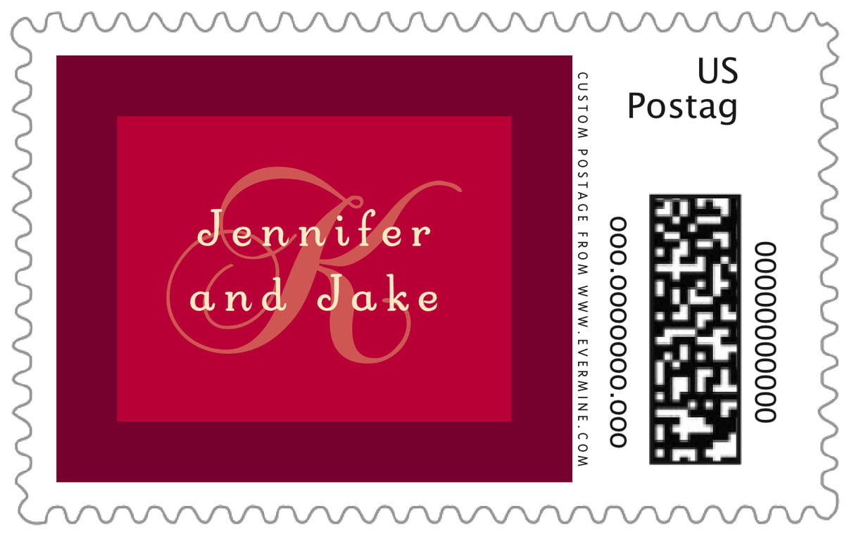 custom large postage stamps - deep red - astor (set of 20)