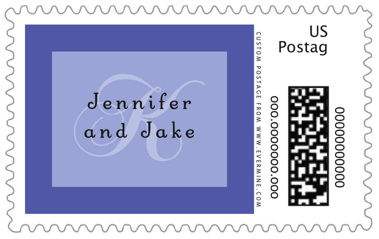 custom large postage stamps - periwinkle - astor (set of 20)