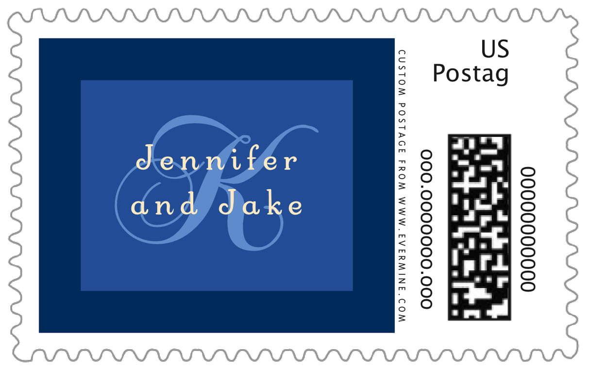 custom large postage stamps - deep blue - astor (set of 20)