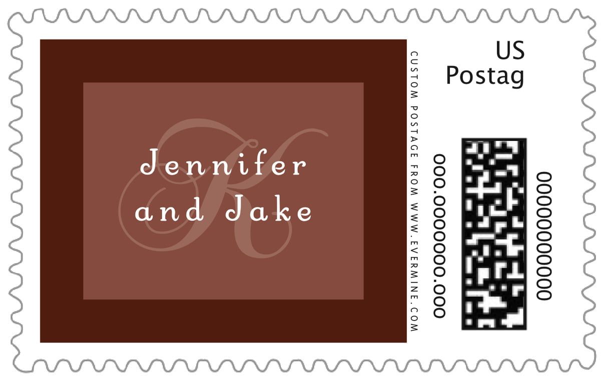 custom large postage stamps - chocolate - astor (set of 20)
