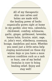 Apothecary Neat oval text labels