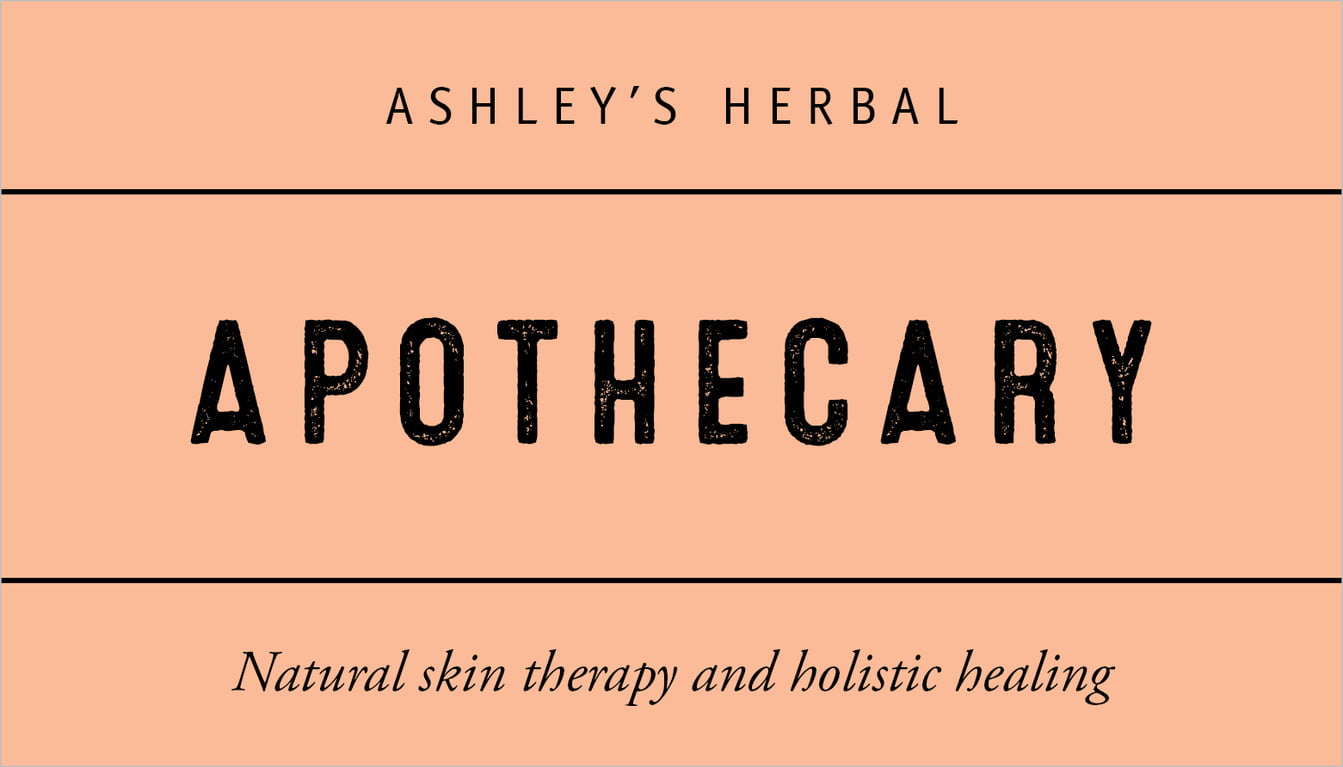 custom business cards - peach - apothecary neat (set of 25)