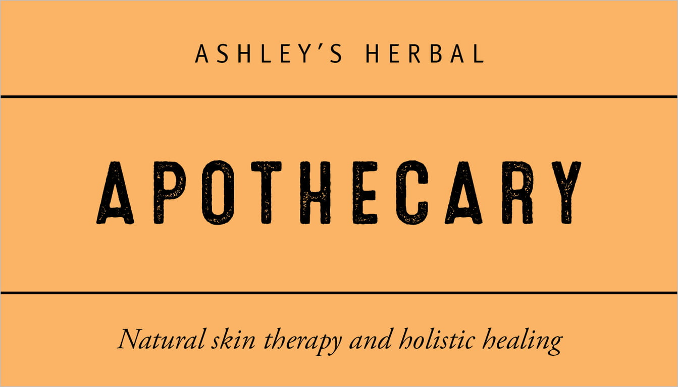 custom business cards - tangerine - apothecary neat (set of 25)