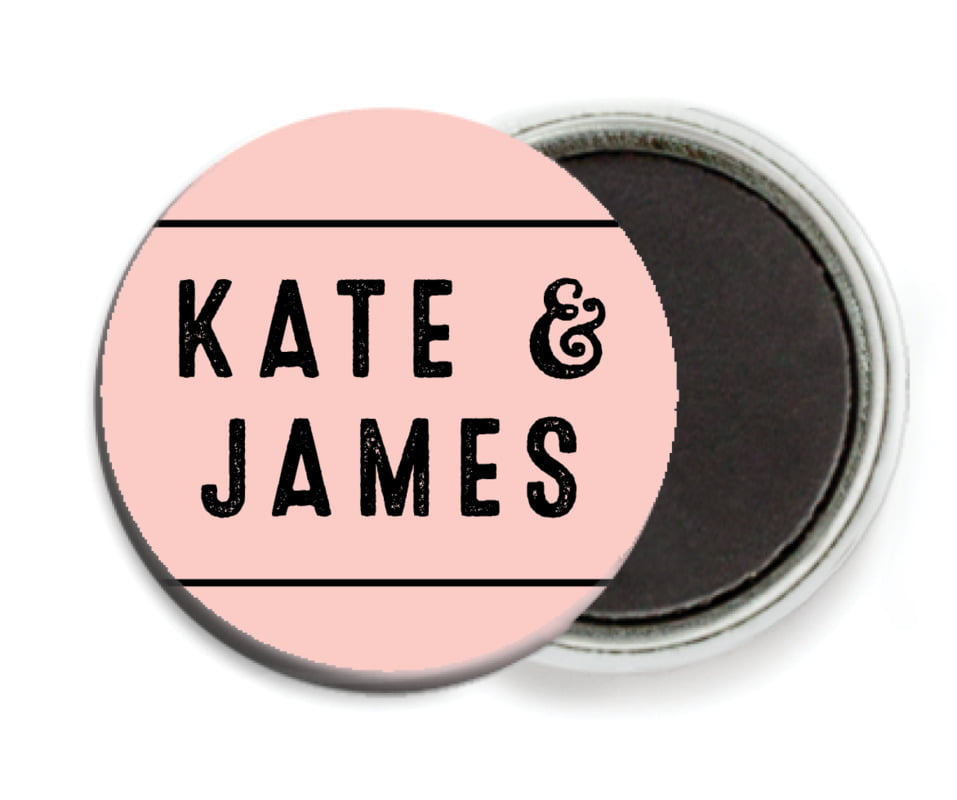 custom button magnets - rose quartz - apothecary neat (set of 6)