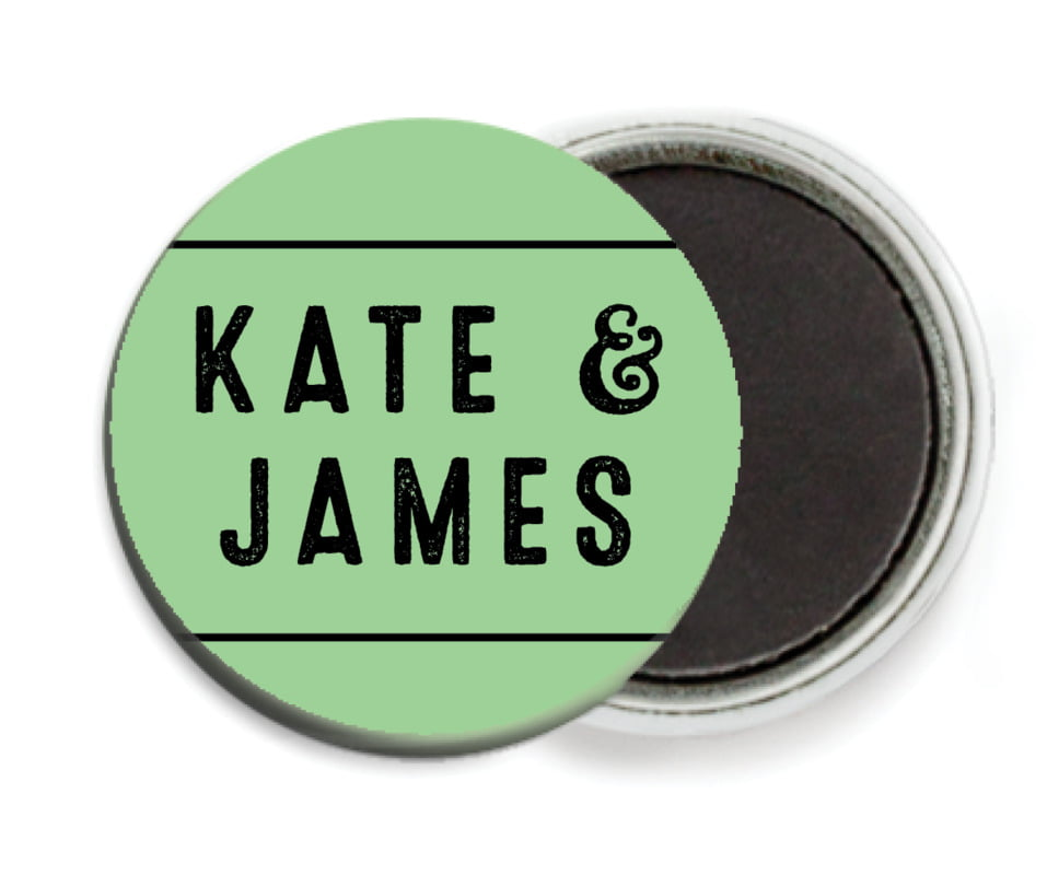 custom button magnets - spring green - apothecary neat (set of 6)