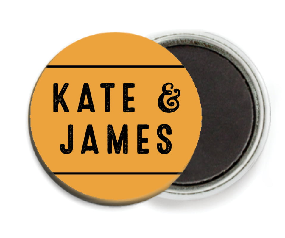 custom button magnets - orange - apothecary neat (set of 6)