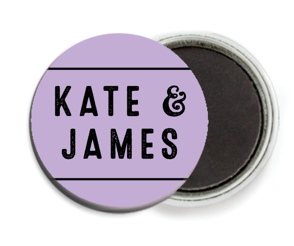 custom button magnets - lilac - apothecary neat (set of 6)