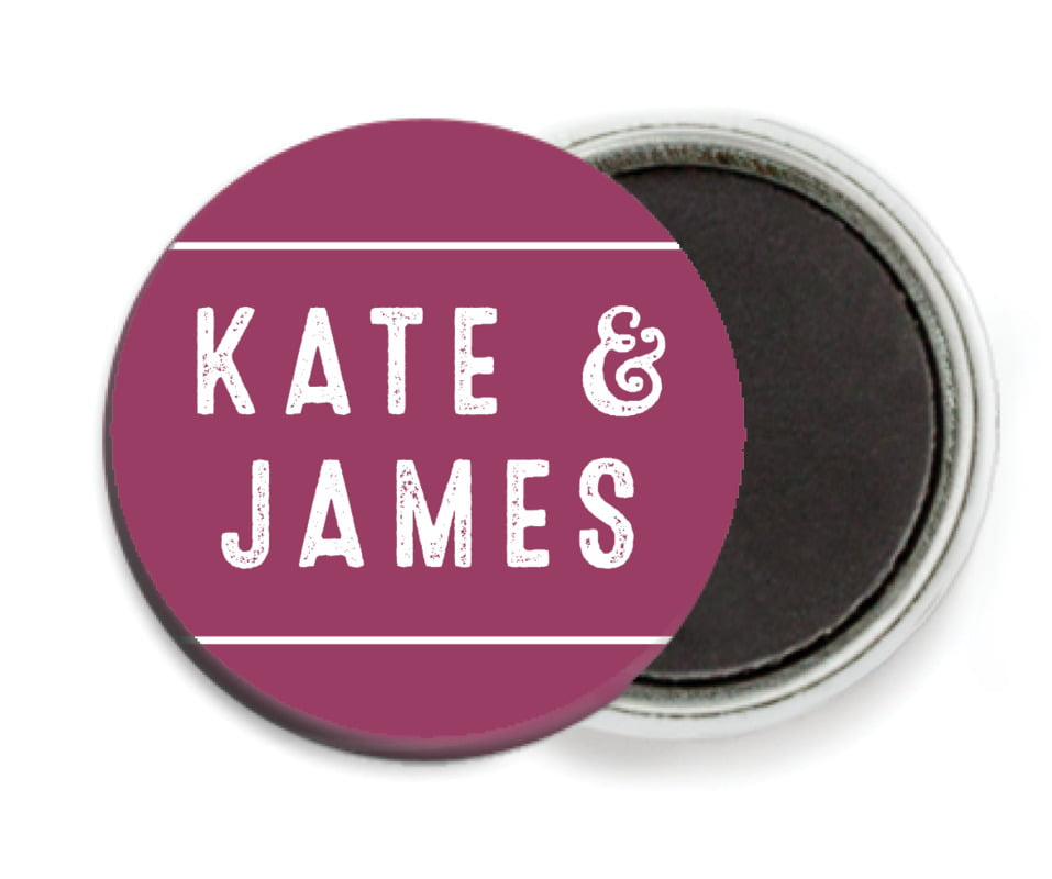 custom button magnets - burgundy - apothecary neat (set of 6)