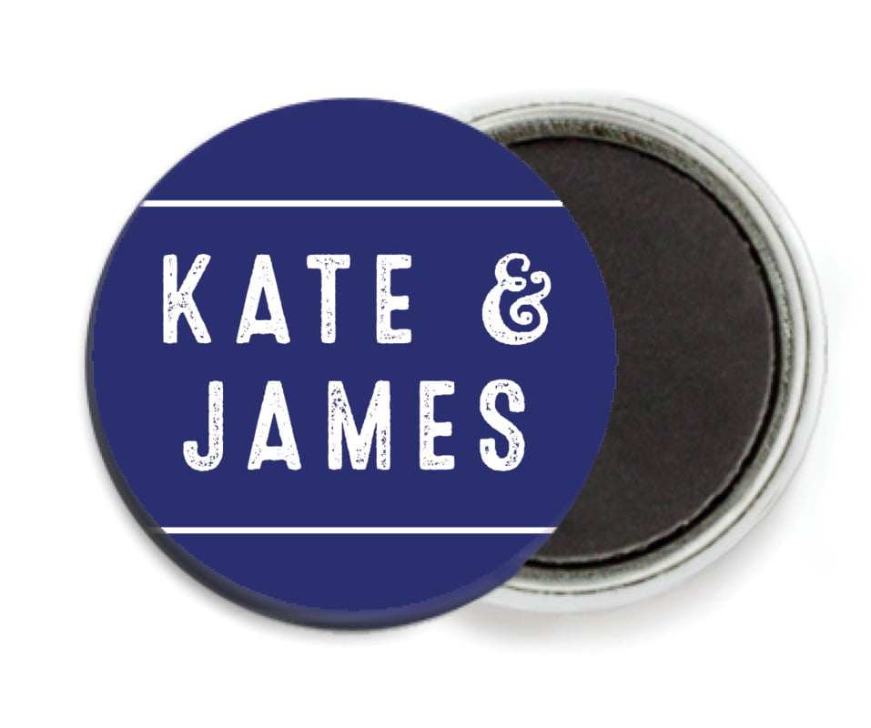 custom button magnets - deep blue - apothecary neat (set of 6)