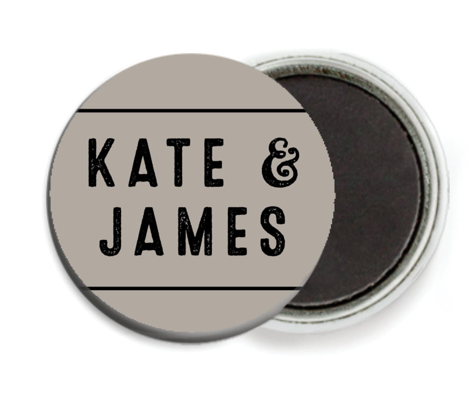 custom button magnets - warm grey - apothecary neat (set of 6)