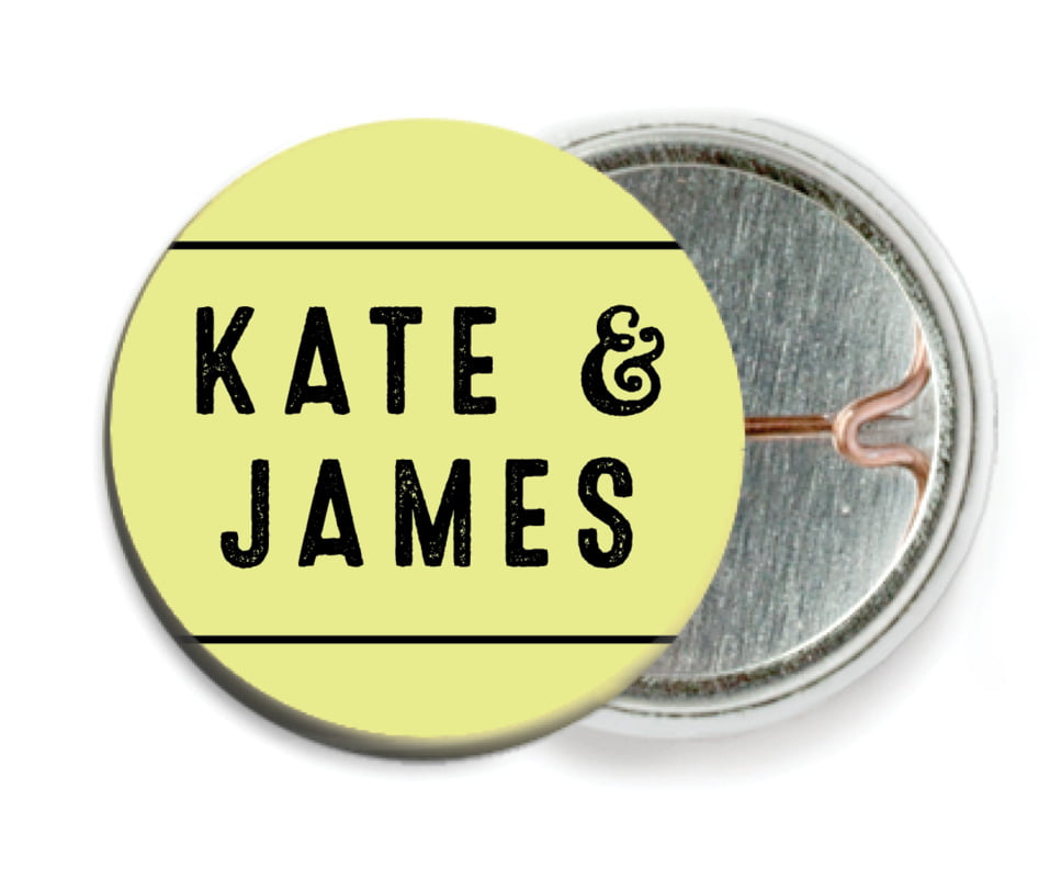 custom pin back buttons - chartreuse - apothecary neat (set of 6)