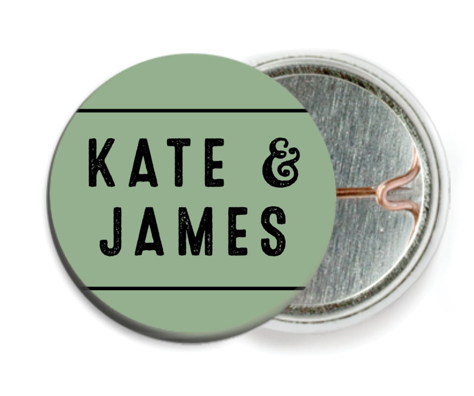 custom pin back buttons - sage - apothecary neat (set of 6)