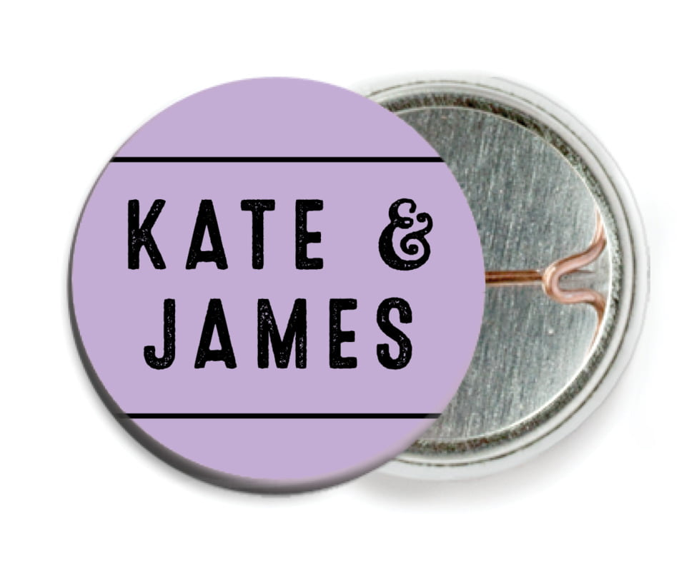 custom pin back buttons - lilac - apothecary neat (set of 6)