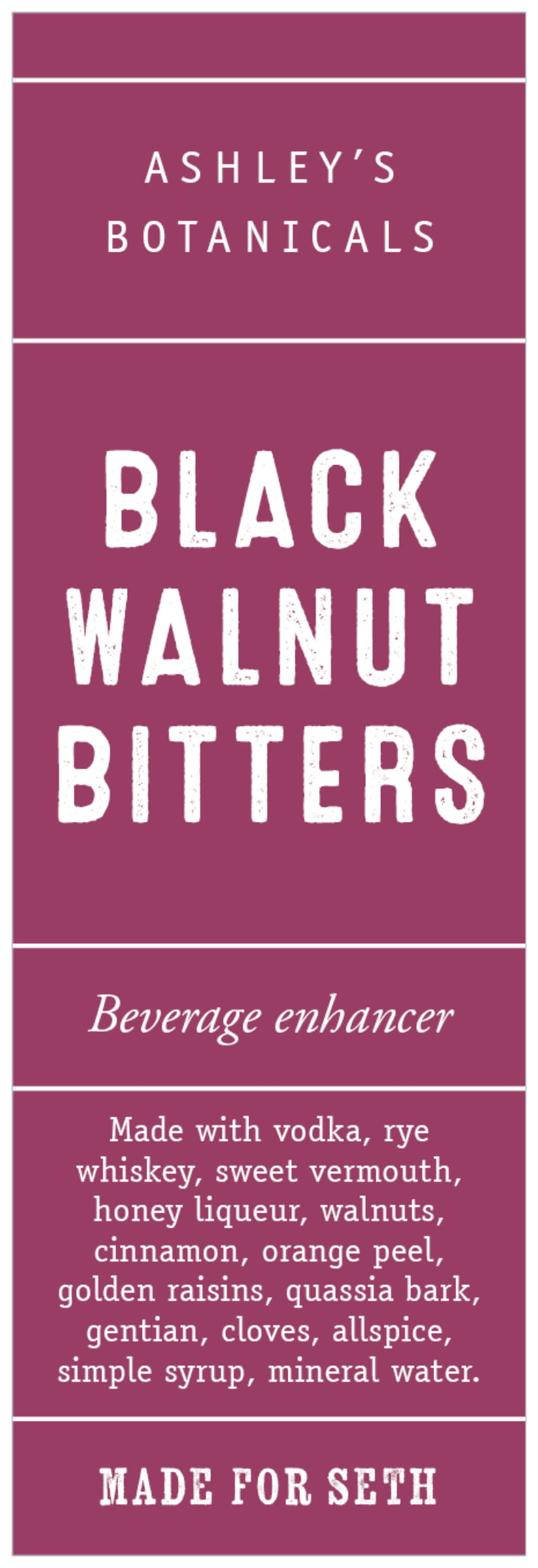 tall food/craft labels - burgundy - apothecary neat (set of 14)