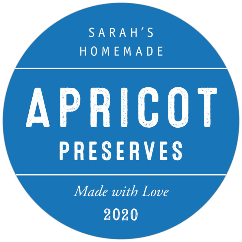 circle food/craft labels - cobalt - apothecary neat (set of 20)